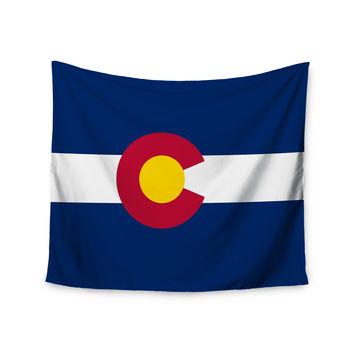"Bruce Stanfield ""Colorado State Flag"" Blue Red Wall Tapestry"
