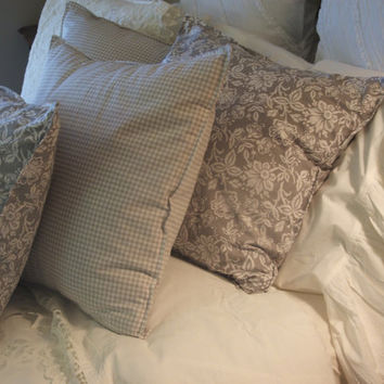 shabby chic pillow shams