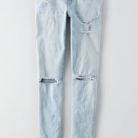 AEO Women's Denim X Skinny Jean (Glacier Crush)