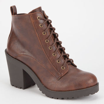 Soda Inside Womens Booties Brown  In Sizes