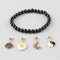 Full Tilt Yin Yang Interchangeable Charm Bracelet Black One Size For Women 26430210001