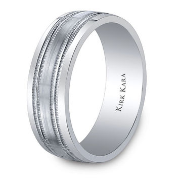 "Kirk Kara ""Artin"" 7mm Comfort-Fit Men's Wedding Band"