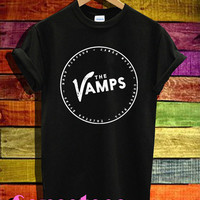 the vamps shirt the vamps band logo shirts tshirt t-shirt tee shirt printed black and white color unisex size