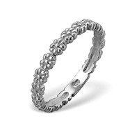 Daisy Series Band Ring in Solid 925 Sterling Silver