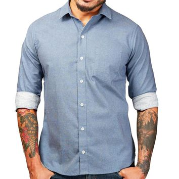 ON SALE THIS WEEK ONLY:  Blue Japanese Wave Print Shirt - Zachary