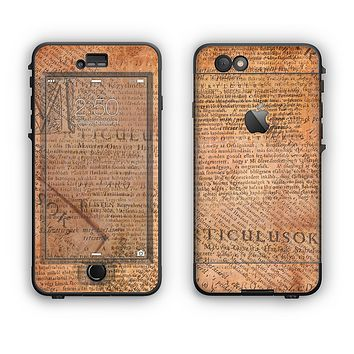 The Historical Word Overlay Apple iPhone 6 Plus LifeProof Nuud Case Skin Set