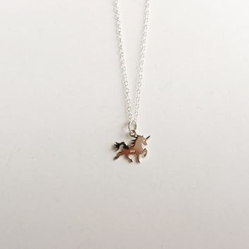 Beautiful Sterling Silver Unicorn Necklace