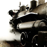Industrial - Steam engine - train - black and white - 5x7 photography for men
