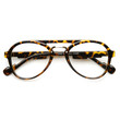Dapper Hipster Indie Vintage Inspired Clear Lens Aviator Glasses 9397