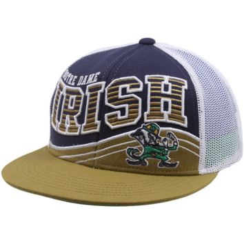 Top of the World Notre Dame Fighting Irish Electric Slide Snapback Hat - Navy Blue/Gold/White