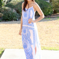 Ocean Maxi - Light Blush and Blue