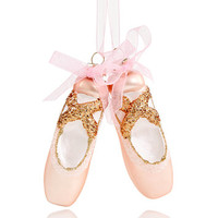 Holiday Lane Glass Pink Ballet Slippers Ornament, Created for Macy's | macys.com