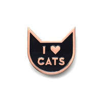 I Heart Cats Lapel Pin