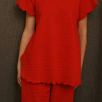 Cherry SS Long Top & Palazzos Dot Collection | Simple Pleasures, Inc.