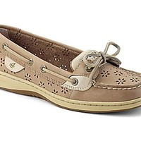 Floral Perf Leather Angelfish Boat Shoe
