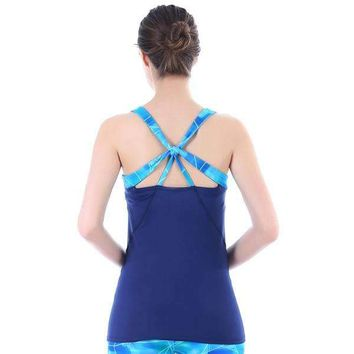 Mad Motion Cross Back Tank Top