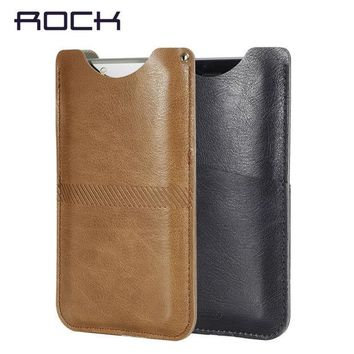 DCCKHY9 ROCK Original Phone Case for iPhone 6/6s/6 plus Fashion Phone Cover Flip Leather Phone wallet Case Cover Stand Cash card slot