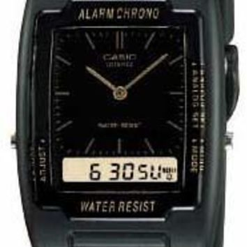 Casio Mens Black Classic Analog Digital Watch