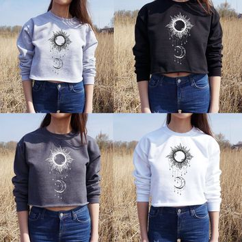 Hoodies Winter Women's Fashion Pullover Long Sleeve Sweatshirts [73430106138]