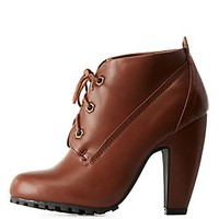 BAMBOO LACE-UP BOOTIES