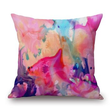 Heart of Art 18 x 18 Pillow Cover