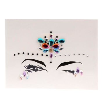 ac PEAPO2Q ZL12 Face Eye Jewel Acrylic Rhinestone Body Art Sticker Tattoo Party Performance   -W128