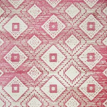5680 Pink Aztec Contemporary Area Rugs