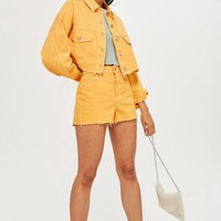 Yellow Denim Jacket and Mom Shorts Set - New In Fashion - New In