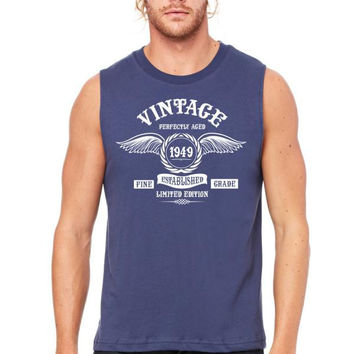 Vintage Perfectly Aged 1949 Muscle Tank