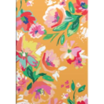 Orange Floral Print Phone Case