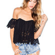 Stone Cold Fox Holy tube top in black eyelet