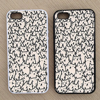 Funny Hipster Cat iPhone Case, iPhone 5 Case, iPhone 4S Case, iPhone 4 Case - SKU: 177
