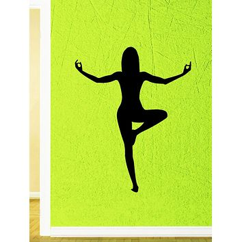 Wall Stickers Pose Yoga Asana Zen Meditation Mantra Vinyl Decal Unique Gift (ed432)