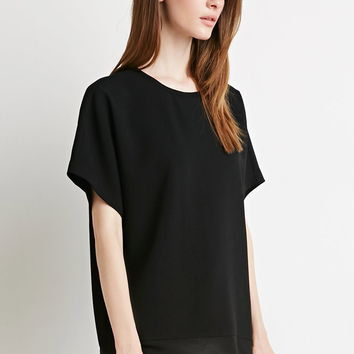 Boxy Crepe Top | FOREVER 21 - 2000156651