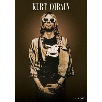 KURT COBAIN POSTER - SHADES - RARE NEW HOT 24X36
