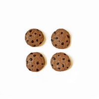 Chocolate Chip Cookie Magnets - Polymer Clay Magnet - Food Magnet - Cookie Magnets - Kitchen Magnet - Refridgerator Magnet - Kawaii Magnet