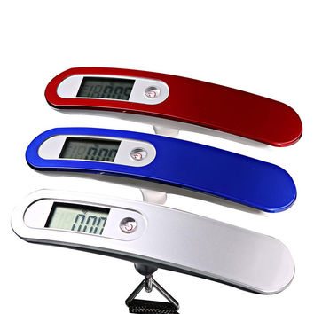 Electronic 50kg Hanging Travel Suitcase Luggage Weighing Scales Digital Display EG9124