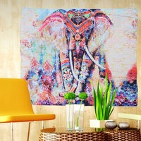Most Original Most Beautiful Elephant Tapestry! Window Cover, Beach Throw, Yoga Mat, 150x130cm