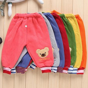 Hot Sale winter warm mickey boy pants minions warm Sweatpants for kids sports casual pants for 1-4years girls pants girl clothes