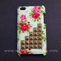 iPod Touch 4 case Bronze Studded iPod Touch 4 case  by wesweetlife