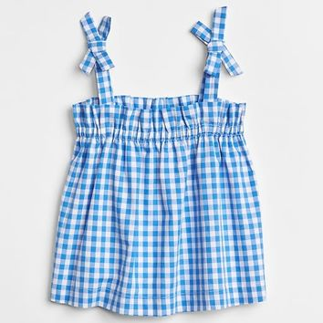 Gingham Bow Tank Top|gap
