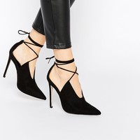 ASOS | ASOS PROPELLOR Lace Up Pointed Heels at ASOS