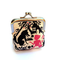 Fairy tale coin purse ll small metal purse frame ll once upon a time ll red riding hood ll thumbelina ll whimsical