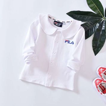 Fila Girls Children Baby Toddler Kids Child Fashion Casual Cardigan Jacket Coat