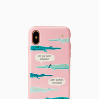 jeweled alligator iphone x case | Kate Spade New York