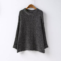Long-Sleeve Pullover Knitted Shirt