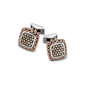 John Hardy classic chain collection square cufflinks