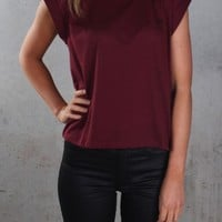 Lee - No Brainer Tee Maroon - Womens