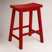 Red Schoolhouse Counter Stool - World Market