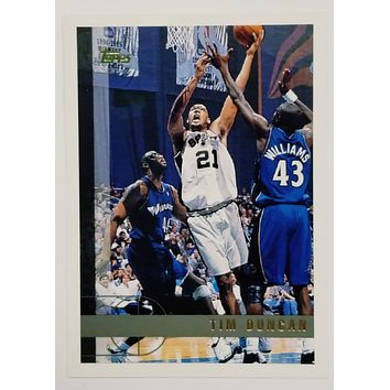 TIM DUNCAN ROOKIE CARD 1997 Topps #115 (GOLD LETTERED) Spurs Wake Forest RC NBA